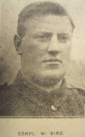 Corporal Walter Bird 351058 Labour Corps Formerly 4633 East Lancashire Regiment Died of Pnuemonia 8th December 1917 at Ripon, aged 29 - birdwalter351058